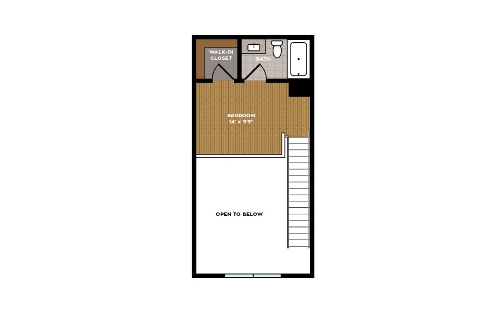 1F-1 - 1 bedroom floorplan layout with 1 bath and 782 square feet. (Floor 2)